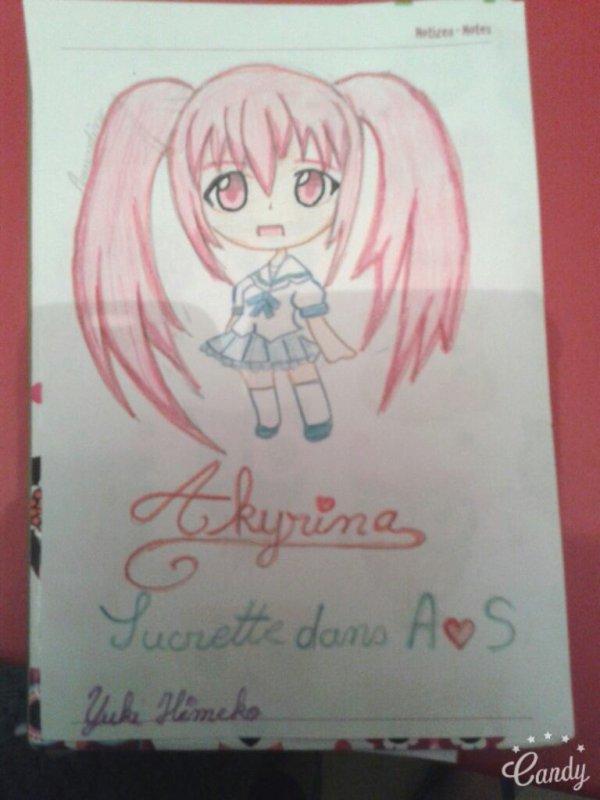 Voici mon chibi sur le thème d'amour sucré # Yukina