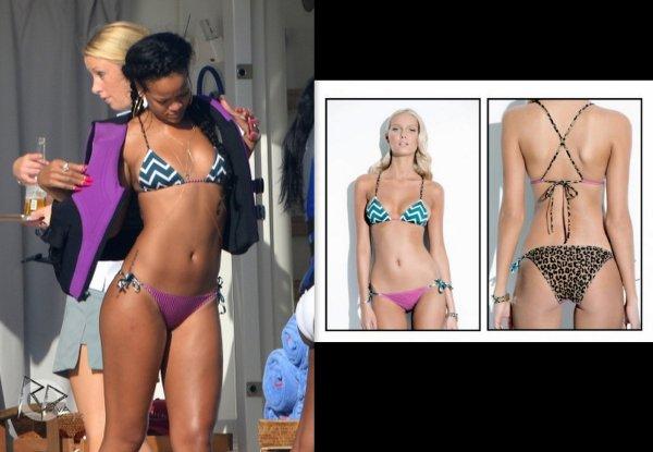 "Rih sur son yacht a st trop'/ elle porte un bikini Adriana"" de chez Charlie by Matthew Zink/ tu aimes?"