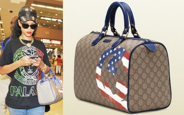 Rih arrive au Japon / elle porte un sac gucci / tu aimes?