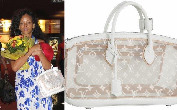 Rih à Nice / elle porte un sac LV / tu aimes?