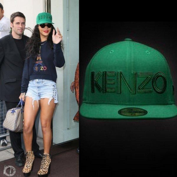 Rih quitte son hotel à Londres / elle porte une casquette et un pull kenzo / tu aimes?