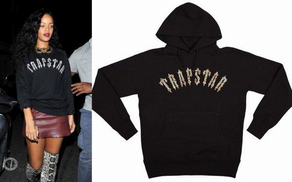 Rihanna à Londres/ elle porte un pull trapstar et un pull vision street wear / tu aimes?