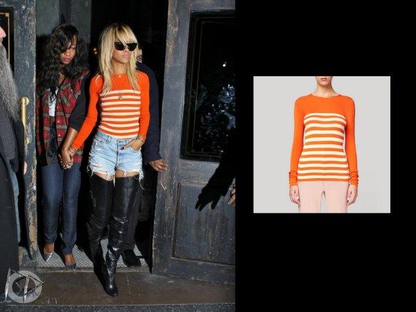 Rihanna quitte le roxbury club / elle porte un haut stella mcartney et des louboutins / tu aimes?