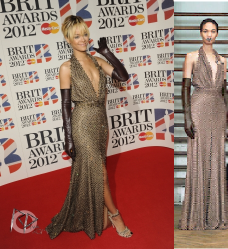 Rih au Brit awards / elle porte une robe givenchy/ tu aimes?  dsl pour la qualite :s