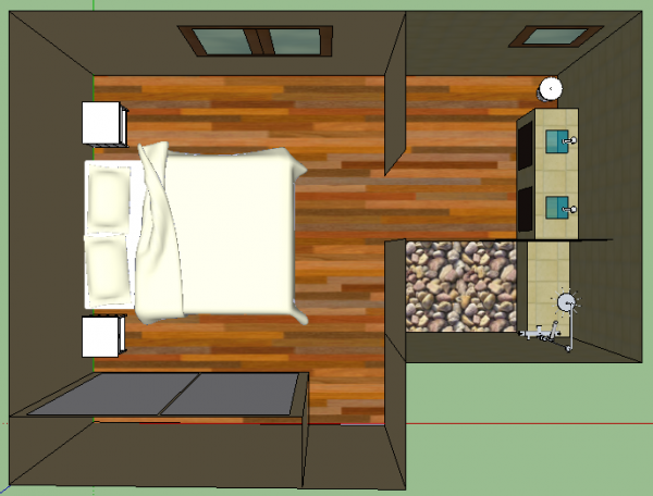 Avec google sketchup suite parentale un reve une Idee amenagement suite parentale