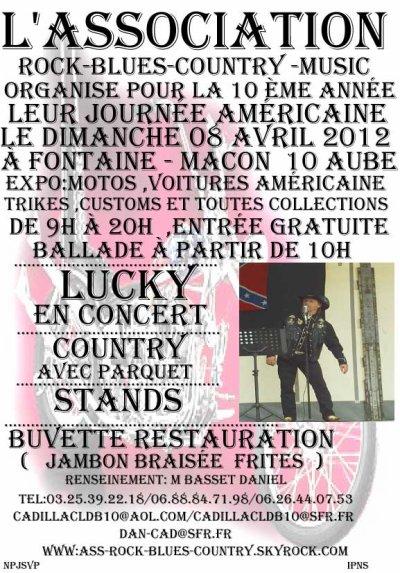Journée Américaine et Country à Fontaine- Macon Aube 10 le 08 Avril 2012