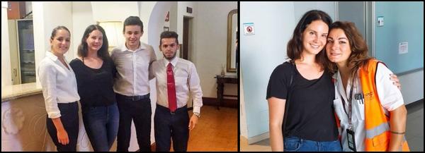 12.08.2018 : Lana Del Rey a posé avec des employés de l'aéroport de Salerno Costa d'Amalfi en Italie