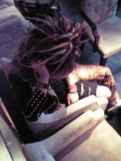 The GazettE members sleeping XD