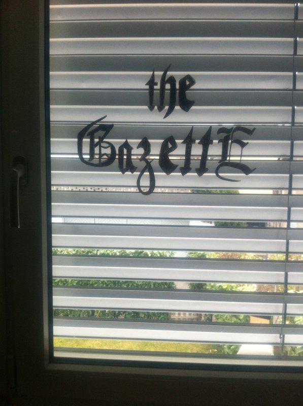 Logo de The GazettE sur ma fenêtre