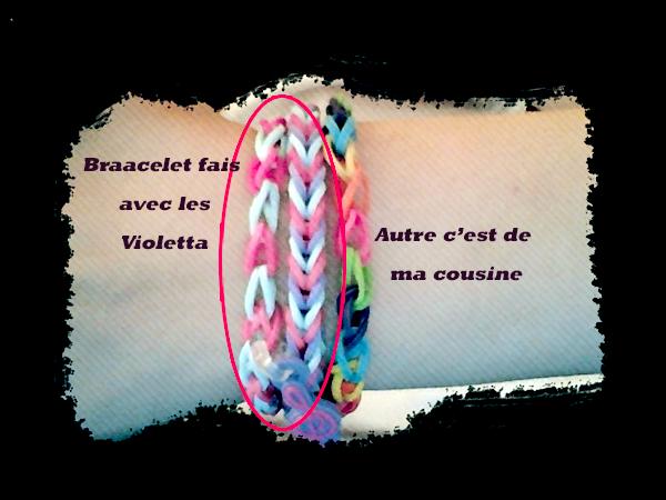 mes bacelet elastique violetta