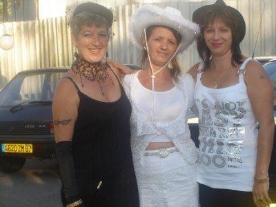 moi et les deux tante de mon chérie