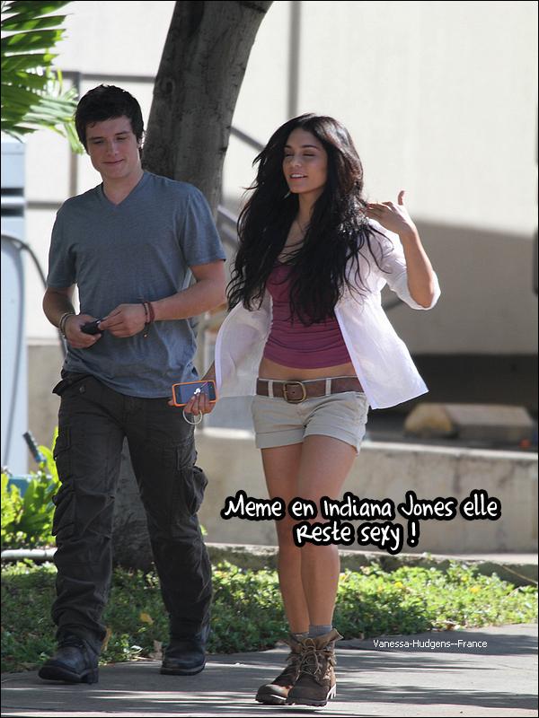 . 21 Octobre 2010 : Vanessa sur le tournage de sont prochain film « Journey 2 : The Mysterious Island » à Hawaii.  .