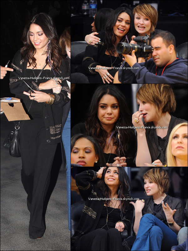 . 17 Mars 2011 : Vanessa retrouvant Josh Hutcherson, son costar dans Journey 2. .