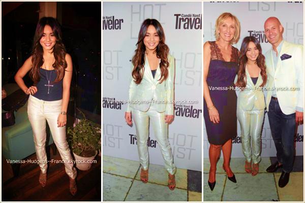 . 17 Avril 2011 : Vanessa avec ses amis au festival Coachella pour le dernier jour.  .