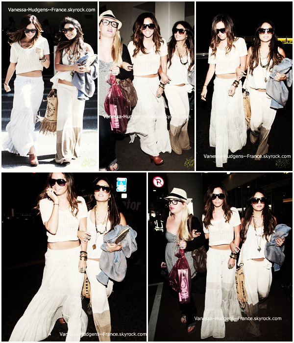 . 3 Mai 2011 : Vanessa et Ashley à LAX. .