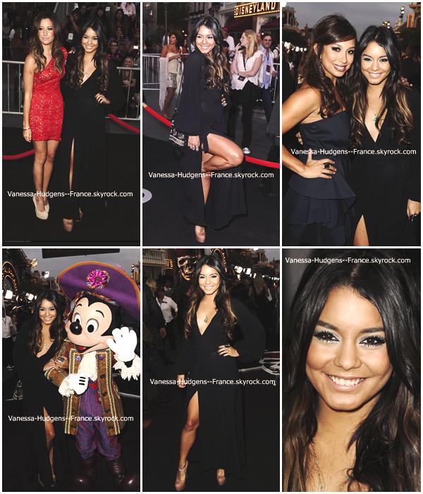 """.  07 Mai 2011 : Vanessa et Ash.T à l'avant première de """"Pirates des Caraïbes 4""""._____Magnifique ! ."""