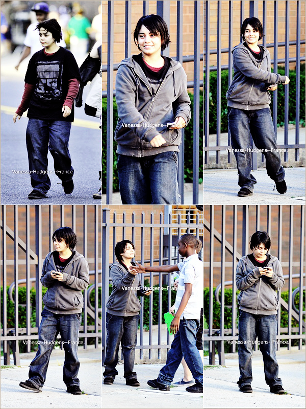 .  14 Juillet 2011 : Vanessa en mode horiiiiiiiible, sur le tournage de Gimme Shelter. .
