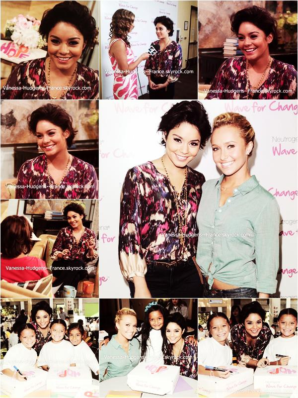 .  18 Juillet 2011 : Vanessa et Hayden Panettiere à l'évènement Wave For Change pour Neutrogena. .