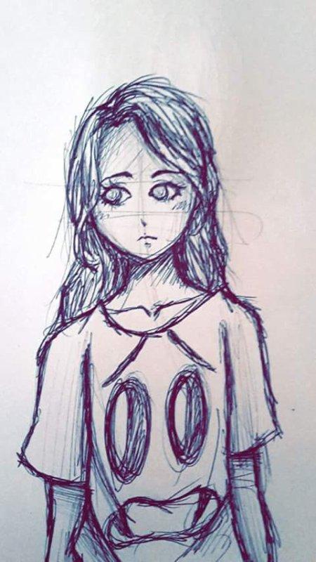 jeune fille qui se sent seul