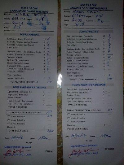 les fiche de mes malinois 25/26-02-2012