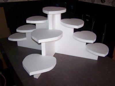 support gateaux 9 coeurs blog de creadecor. Black Bedroom Furniture Sets. Home Design Ideas