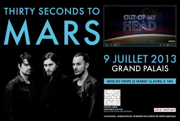 THIRTY SECONDS TO MARS…