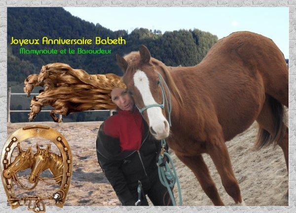 °º ♫♫♫ º°..... C'EST L'ANNIVERSAIRE DE BABETH !!.....°º ♫♫♫ º°