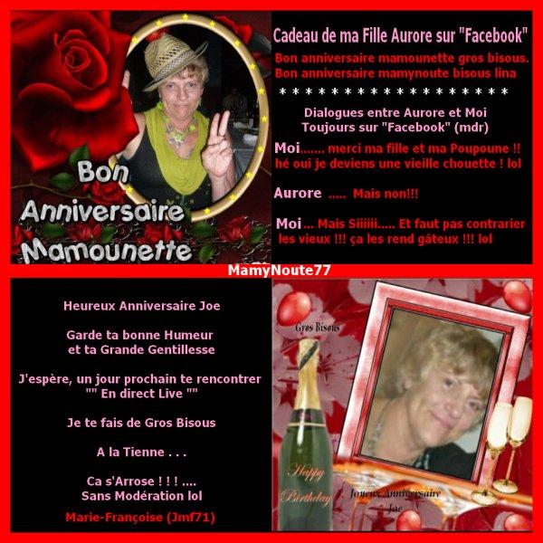 LE .... 11/11/11......  C'ETAIT...... MON ANNIVERSAIRE !!.....
