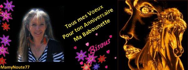♫♫♫..... C'EST L'ANNIVERSAIRE DE BABOUNETTE !!.....♫♫♫
