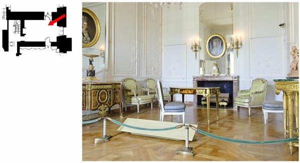 Rez de chaussée - Aile centrale - Appartement de madame Victoire - 74 Cabinet intérieur