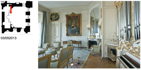 Rez de chaussée - Aile centrale - Appartement de madame Adélaïde - 78 Grand cabinet.
