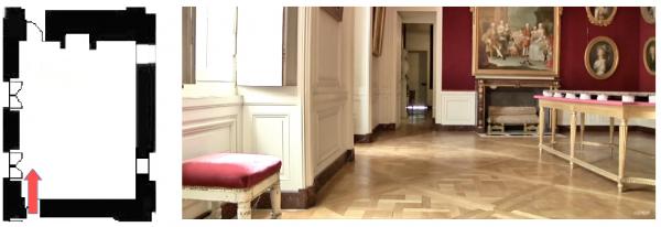 Rez de chaussée - Aile centrale - Appartement  du capitaine des gardes - 87 Chambre