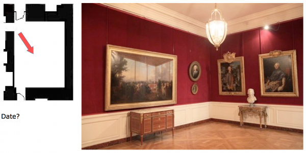 Rez de chaussée - Aile centrale - Appartement  de Marie Antoinette - 88 Antichambre