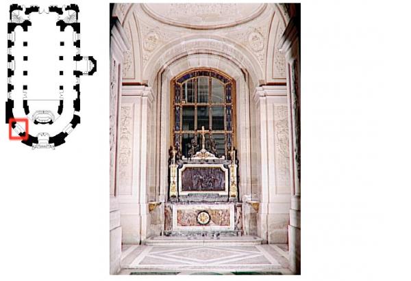 Rez de chaussée - Aile nord - 98 Chapelle royale - Autel Saint Charles Borromée.
