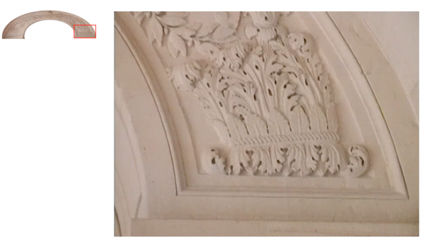 Rez de jardin - Aile centrale -  93 Hall d'accès vers l'escalier de la reine et l'appartement de la dauphine.