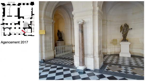 Rez de jardin- Aile centrale -  92 Vestibule de l'escalier de la reine
