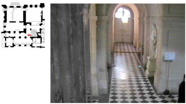 Rez de  jardin Aile centrale -  92 Vestibule de l'escalier de la reine Aile centrale -  92 Vestibule de l'escalier de la reine