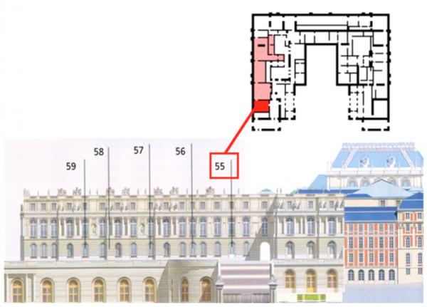 Rez de chaussée - Aile centrale - 55 Appartement de la dauphine - Première antichambre