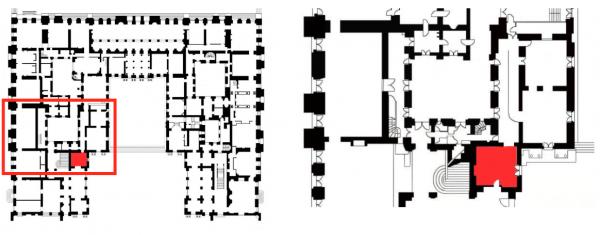 Rez de chaussée - Aile centrale - Divers - 91d Boutique cour de marbre