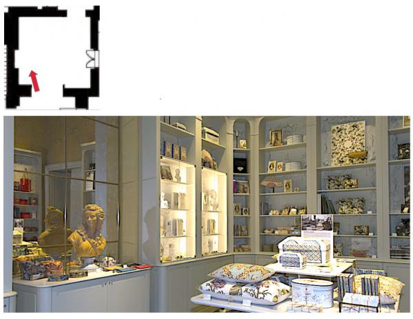 Rez de chaussée - Aile centrale - Divers - 91d Boutique cour de mabre