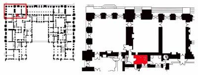 Rez de jardin - Aile centrale - Arrière cabinet du dauphin et de la dauphine - 60c Garde robe