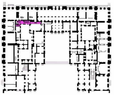 Rez de jardin - Aile centrale - Arrière cabinet du dauphin et de la dauphine