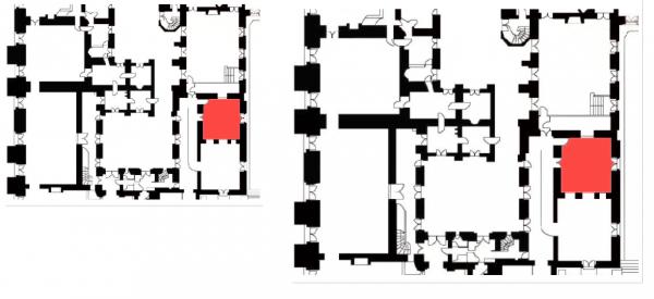 Rez de chaussée - Aile centrale - Divers - 91 Boutique cour de mabre (Ancienne garde robe aux habits du roi).