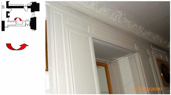 Rez de chaussée - Aile centrale - Appartement de madame Adélaïde - 76 Cabinet intérieur .