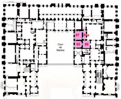 Rez de chaussée - Aile centrale - Appartement du capitaine des gardes.