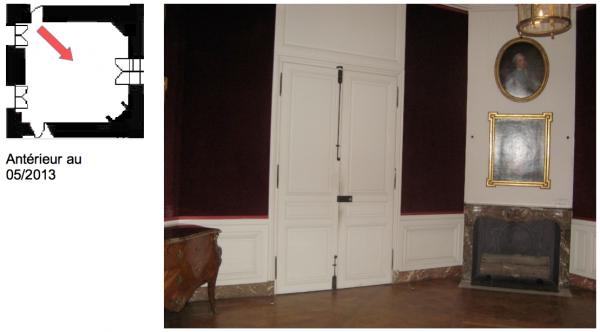 Rez de chaussée - Aile centrale - Appartement du capitaine des gardes - 85 Grand cabinet