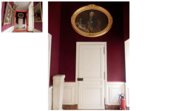 Rez de chaussée - Aile centrale - Appartement  du capitaine des gardes - 87a Cabinet intérieur.