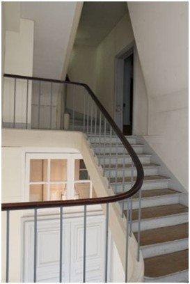 Rez de chaussée - Aile centrale - Escalier - 57d Escalier Fleury