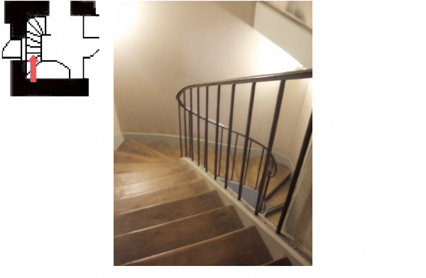 Rez de chaussée - Aile centrale - Escaliers - 60d Escalier de l'arrière cabinet du Dauphin