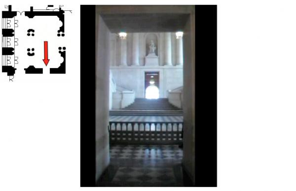Rez de jardin - Aile nord - 95 Vestibule escalier Gabriel
